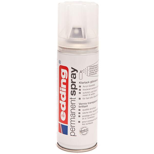 Permanentspray Klarlack edding 5200 - klar seidenmatt 200 ml