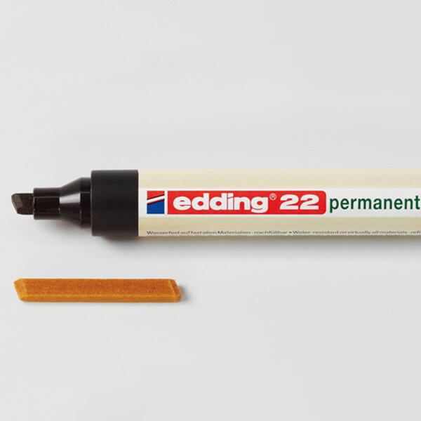 Permanentmarker Ersatzspitze edding 22N - 1 - 5 mm für Mod. 22