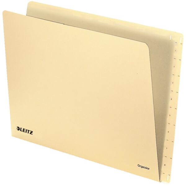 Einstellmappe Leitz Orgacolor 2432 - 305/323 x 230 mm chamois füt OC-Kennzeichnungssystem Kraftkarton 260 g/qm² Pckg/100
