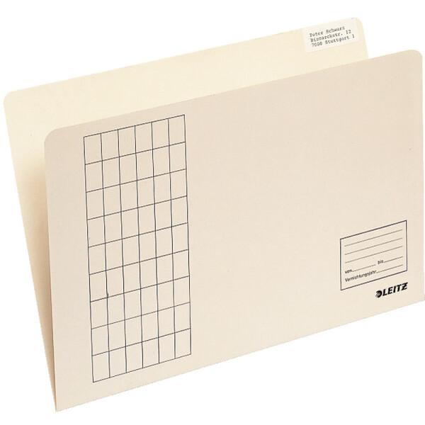 Einstellmappe Leitz 2433 - 215/230 x 310 mm chamois für Hänge und Pendelsammler Kraftkarton 180 g/qm² Pckg/100