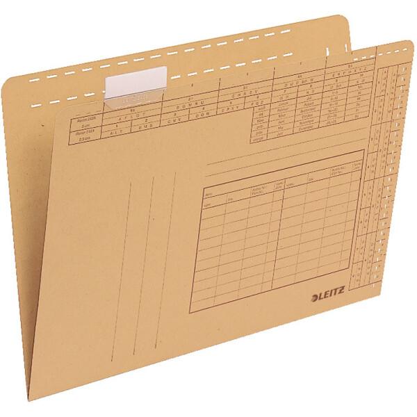 Einstellmappe Leitz 2435 - 230 x 315 mm naturbraun für Hängesammler Natronkarton 250 g/qm² Pckg/100