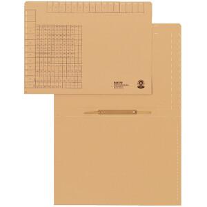 Einstellhefter Leitz 2440 - 220/228 x 315 mm naturbraun kaufmännische Heftung Natronkarton 250 g/qm² Pckg/50
