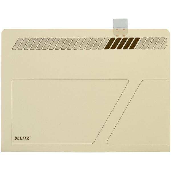 Einstellmappe Leitz 2444 - 230 x 315 mm chamois für Hängebox 1907 Kraftkarton 210 g/qm² Pckg/50