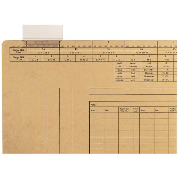 Vollsichtreiter Leitz 2456 - 60 x 35 mm transparent für 2430, 2435 und 2437 4-zeilig Pckg/50