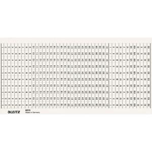 Organisationsstreifen Leitz 6015 - 197 x 100 mm weiß für Sichtleiste 6012 Karton Pckg/100