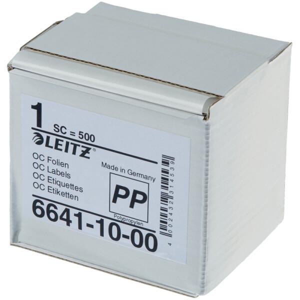 Schutzfolienschild Leitz Orgacolor 6641 - auf Rolle 72 x 39 mm transparent selbstklebend Pckg/500