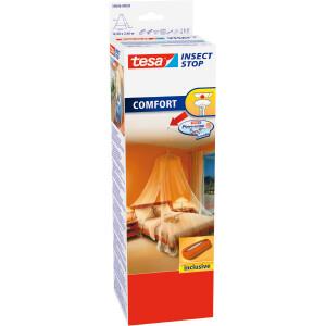 Moskitonetz tesa Insect Stop Comfort 55836 - 1250 x 250 cm weiß mit Powerstrips-Deckenhaken