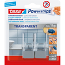 Haken Transparent tesa® Powerstrip Transparent/Chrom für...