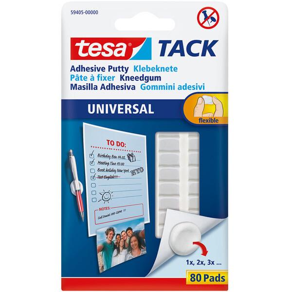 Klebeknete tesa TACK 59405 - weiß formbar und flexibel für Innenbereich Pckg/80