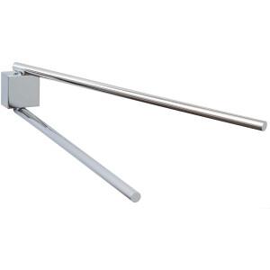 Handtuchhalter tesa EKKRO 40234 - 430 x 90 x 50 mm chrom zweiarmig schwenkbar Metall