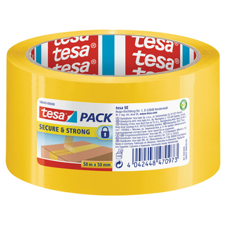 Markierungsband tesa® tesapack® Secure&Strong 50 mm x 50 m Gelb
