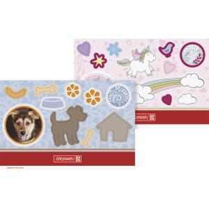 Gratiszugabe ab 25 Euro IVS-Zugabe Brunnen Sticker FoE  Einhorn/Hund