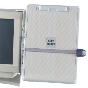 Gratiszugabe ab 100 Euro IVS-Zugabe Hausmarke Konzepthalter A4 ABS-Kunststoff selbstklebend für Monitore mit Zeilenlineal und Klemme höhen- neigungsverstellbar