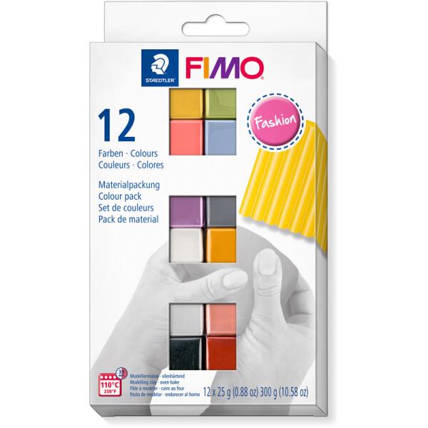 Modelliermasse Staedtler FIMO soft 8023C12 - farbig sortiert (12e) fashion colours ofenhärtend 25 g 12er-Set