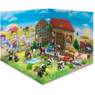 Modelliermasse STAEDTLER FIMO kids form/play Farbig sortiert Farm Level I 4x 42 g