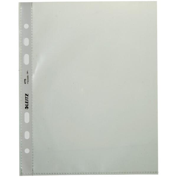 Prospekthülle Leitz 4775 - A5 215 x 170 mm glasklar Universallochung oben offen 0,075 mm PP-Folie Pckg/100