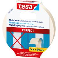 Abdeckband tesa Malerkrepp Perfect 56530 - 19 mm x 50 m beige Kreppband für Privat/Endverbraucher-Anwendungen
