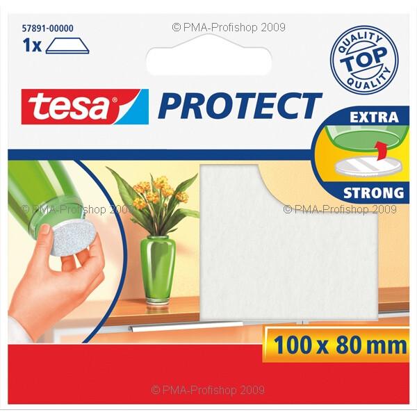 Filzgleiter tesa Protect 57891 - 100 x 80 mm weiß