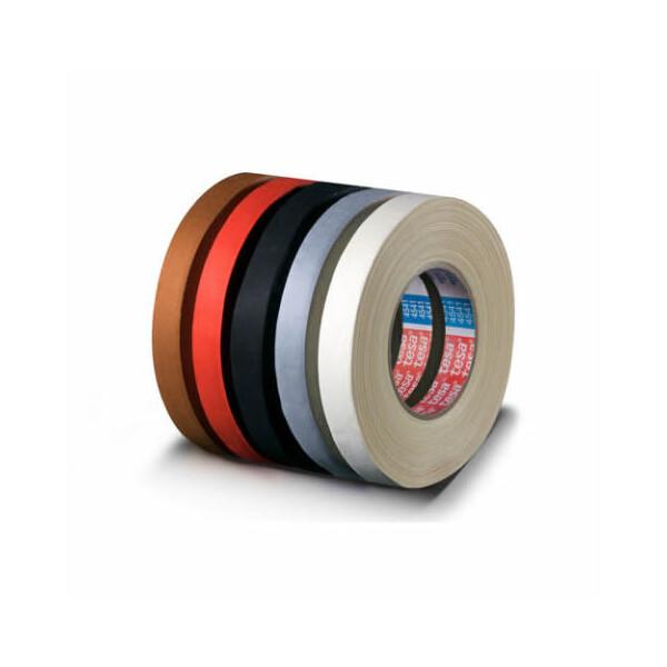 Gewebeklebeband tesa tesaband 4541 - 25 mm x 50 m schwarz Flexband für Industrie/Gewerbe-Anwendungen