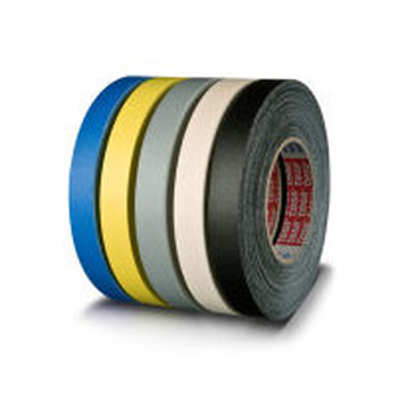 Gewebeklebeband tesa tesaband 4661 - 19 mm x 50 m schwarz kunststoffbeschichtetes Band für Industrie/Gewerbe-Anwendungen