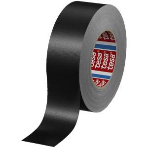 Gewebeklebeband tesa tesaband 4688 - 50 mm x 25 m schwarz PE-Extrudierband für Industrie/Gewerbe-Anwendungen