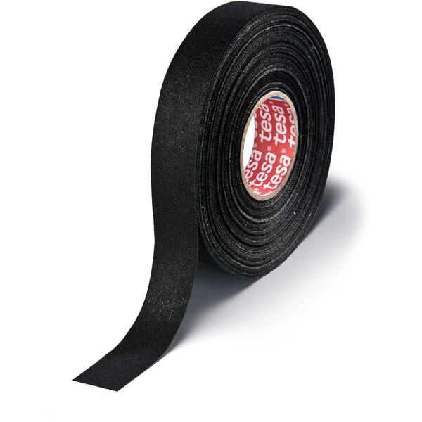 Gewebeklebeband tesa 51006 - 19 mm x 25 m schwarz PET-Band für Industrie/Gewerbe-Anwendungen