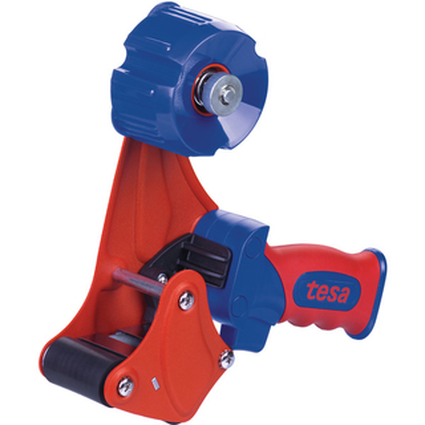 Packband Handabroller tesa tesapack Premium 56402 - bis 50 mm rot/blau einzeln