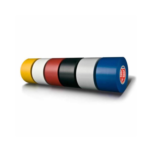 Isolierband tesa Professional Premium 4163 - 19 mm x 33 m weiß PVC-Band für Industrie/Gewerbe-Anwendungen