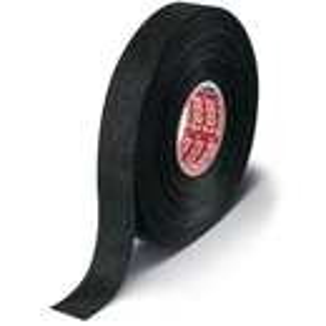 Kabelsatzwicklung tesa 51608 - 19 mm x 25 m schwarz PET-Vliesband für Industrie/Gewerbe-Anwendungen