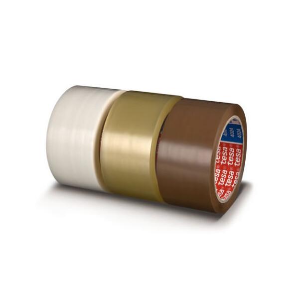 Verpackungsklebeband tesa tesapack 4024 - 75 mm x 66 m farblos PP-Band für Industrie/Gewerbe-Anwendungen
