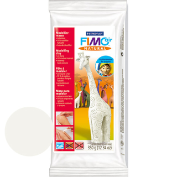 Modelliermasse Staedtler FIMO air natural 8150 - edelweiß normalfarbend lufthärtend 350 g