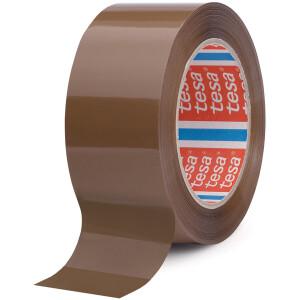Verpackungsklebeband tesa 64044 - 50 mm x 66 m chamois PP-Band für Industrie/Gewerbe-Anwendungen