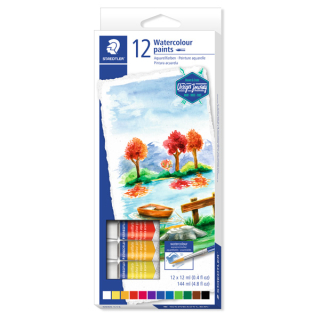 Aquarellfarbe STAEDTLER karat Design Journey Farbig Sortiert 12er-Set Tube je 12 ml