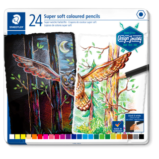Aquarellstift STAEDTLER Design Journey Farbig Sortiert soft 24er-Set PEFC