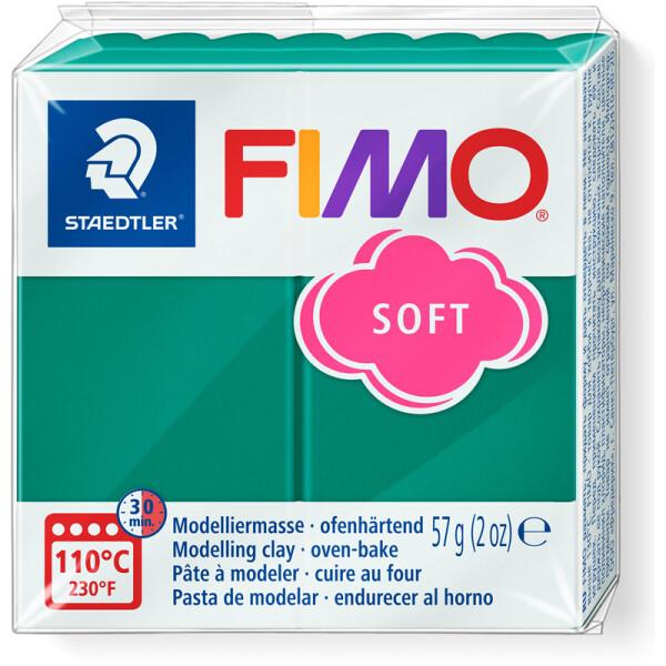 Modelliermasse Staedtler FIMO soft 8020 - smaragd normalfarbend ofenhärtend 57 g