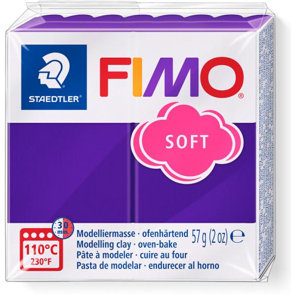 Modelliermasse Staedtler FIMO soft 8020 - pflaume normalfarbend ofenhärtend 57 g