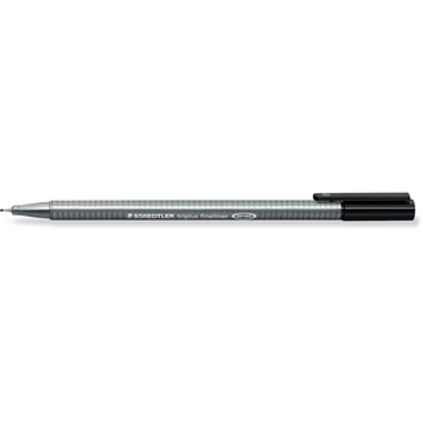 Fineliner Staedtler triplus 334 - schwarz 0,3 mm ergonomischer Dreikantschaft