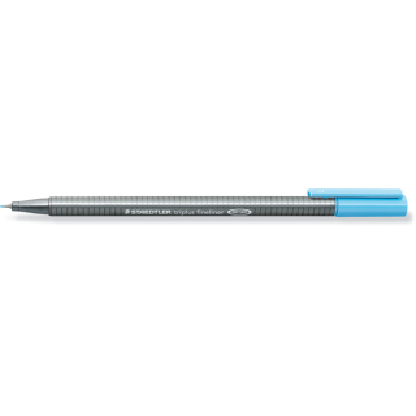 Fineliner Staedtler triplus 334 - aquablau 0,3 mm ergonomischer Dreikantschaft