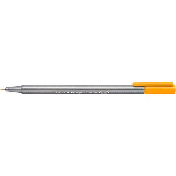 Fineliner Staedtler triplus 334 - hellorange 0,3 mm ergonomischer Dreikantschaft