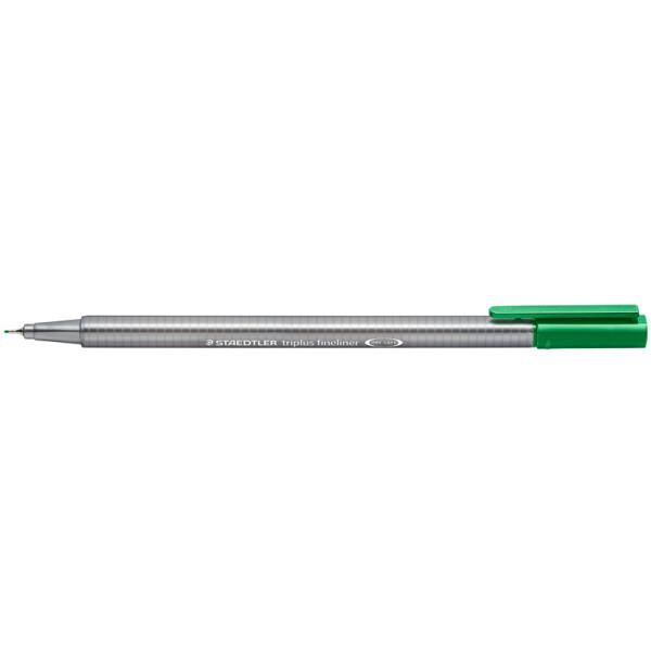 Fineliner Staedtler triplus 334 - grün 0,3 mm ergonomischer Dreikantschaft