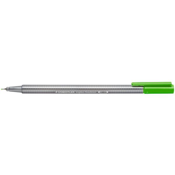 Fineliner Staedtler triplus 334 - gelbgrün 0,3 mm ergonomischer Dreikantschaft