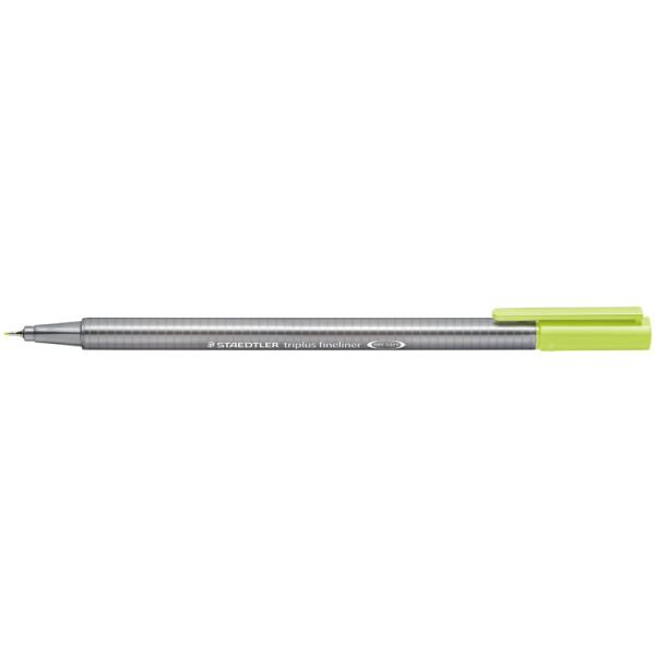 Fineliner Staedtler triplus 334 - lindgrün 0,3 mm ergonomischer Dreikantschaft