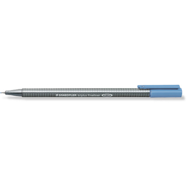 Fineliner Staedtler triplus 334 - delfterblau 0,3 mm ergonomischer Dreikantschaft