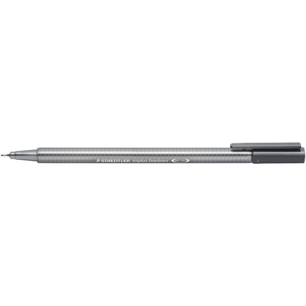 Fineliner Staedtler triplus 334 - grau 0,3 mm ergonomischer Dreikantschaft