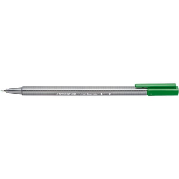 Fineliner Staedtler triplus 334 - saftgrün 0,3 mm ergonomischer Dreikantschaft