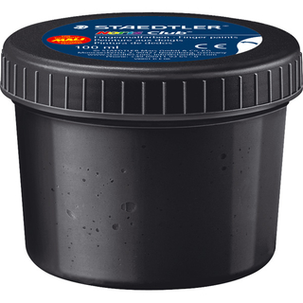 Fingermalfarbe Staedtler Noris Club 8801 - schwarz 100 ml