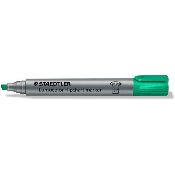 Flipchartmarker Staedtler Lumocolor 356B - grün 2 - 5 mm Keilspitze permanent nachfüllbar