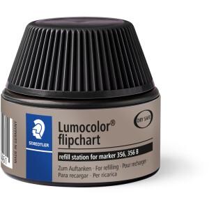 Flipchartmarker Nachfülltinte Staedtler Lumocolor 48856 - schwarz für Mod 356 permanent 30 ml