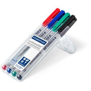 Folienschreiber Staedtler Lumocolor 311 - farbig sortiert 0,4 mm non-permanent nachfüllbar 4er-Set