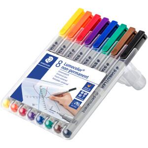 Folienschreiber Staedtler Lumocolor 311 - farbig sortiert 0,4 mm non-permanent nachfüllbar 8er-Set